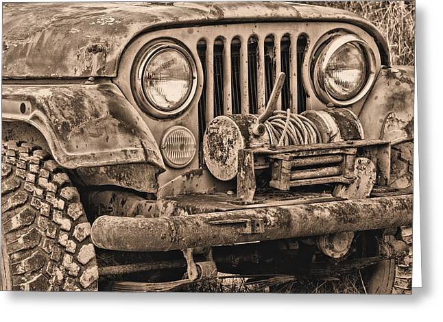 Jeep Cj Function Over Form Greeting Card by JC Findley