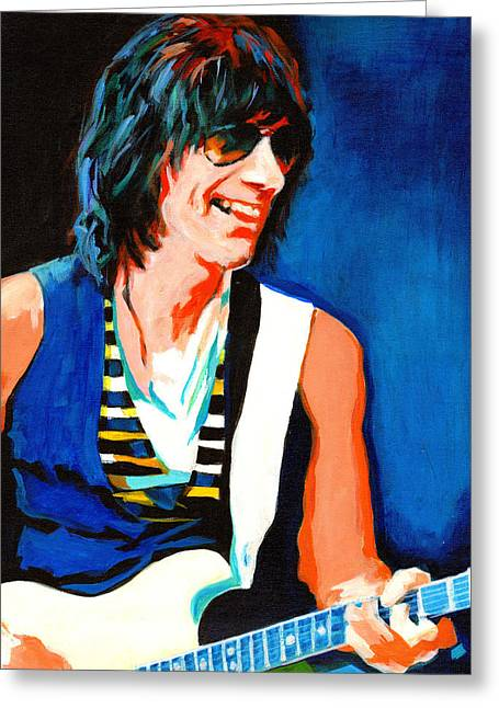 Jeff Beck. Brush With The Blues Greeting Card