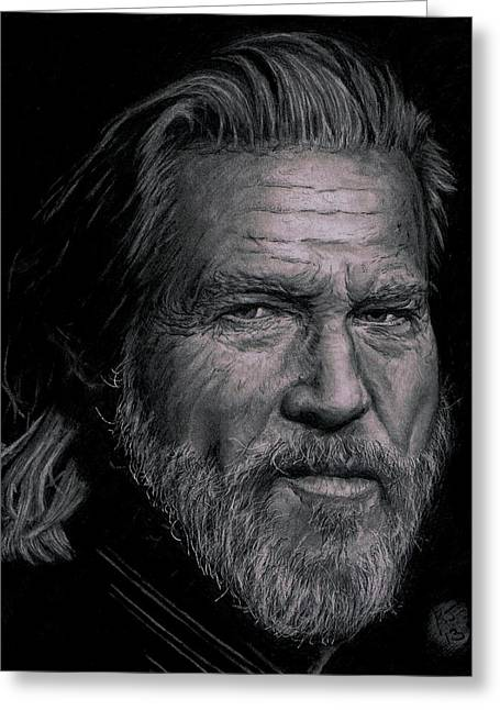 Jeff Bridges Greeting Card by Ryan Jacobson