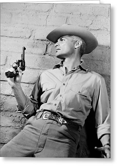 Jeff Chandler In Man In The Shadow  Greeting Card by Silver Screen