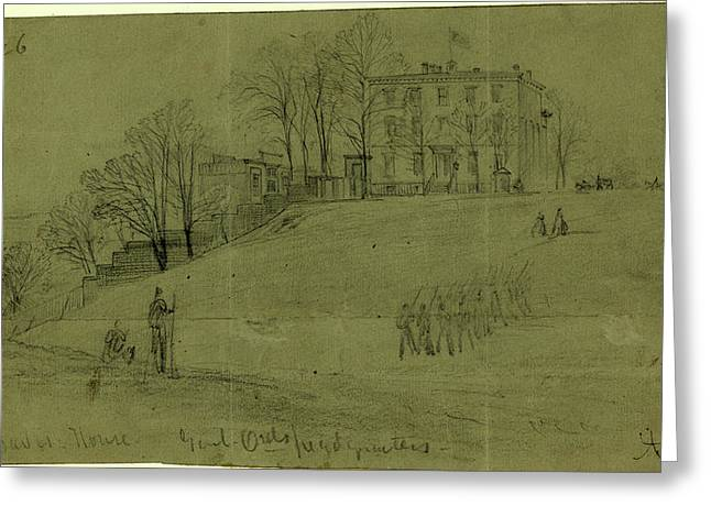Jeff Davis House. Genl. Ords Headquarters Greeting Card by Quint Lox