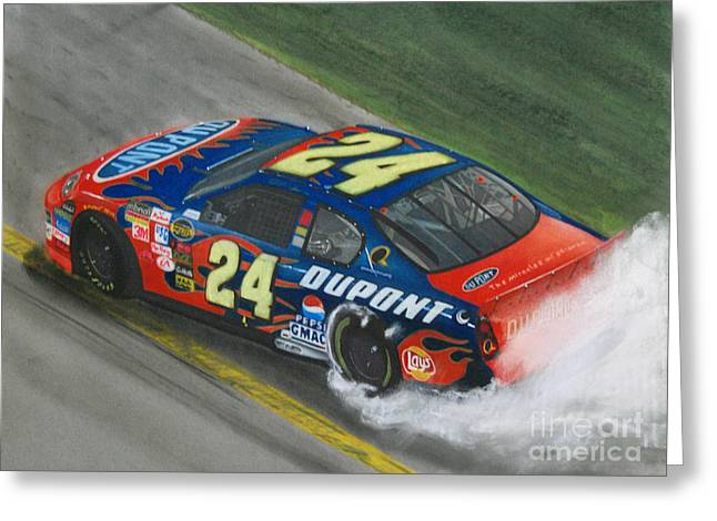 Jeff Gordon Wins Greeting Card by Paul Kuras