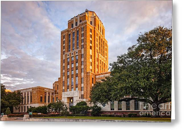 Jefferson County Courthouse At Sunrise - Beaumont East Texas Greeting Card