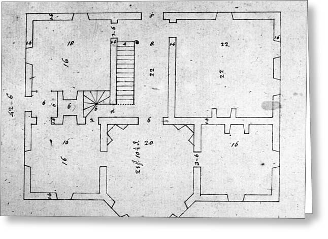 Jefferson: Floor Plan Greeting Card