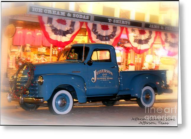 Jefferson General Store 51 Chevy Pickup Greeting Card by Kathy  White