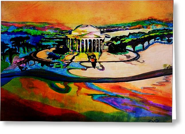 Jefferson Greeting Card by Jill Jacobs