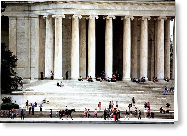 Jefferson Memorial--a Day In The Life Greeting Card
