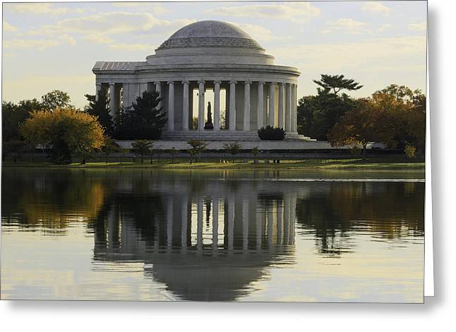 Jefferson Memorial In Autumn Greeting Card