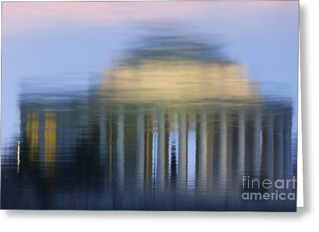 Jefferson Memorial Reflection Greeting Card by Clarence Holmes