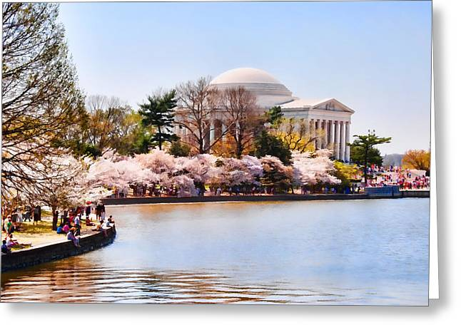 Jefferson Memorial Washington Dc Greeting Card by Vizual Studio
