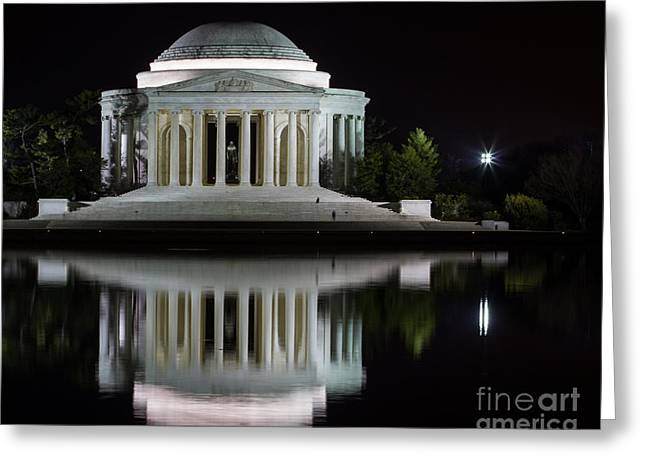 Jefferson Reflections Greeting Card by Dale Nelson
