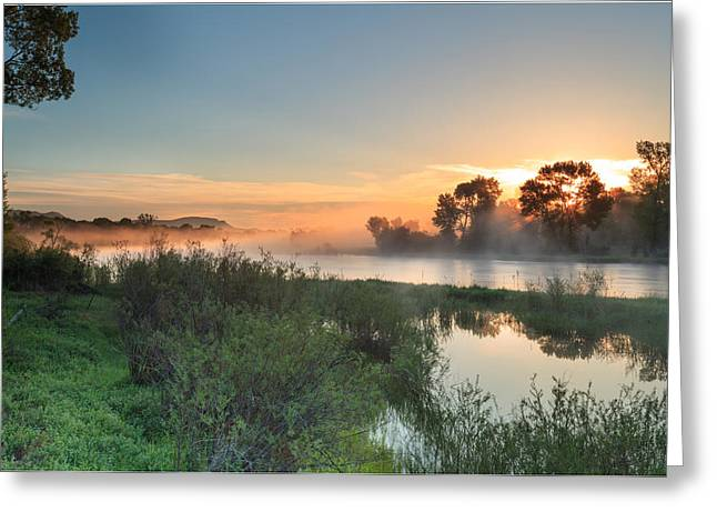 Jefferson River In Montanas Greater Greeting Card