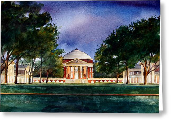 Jeffersons Lawn University Of Virginia Greeting Card by Jim Smither