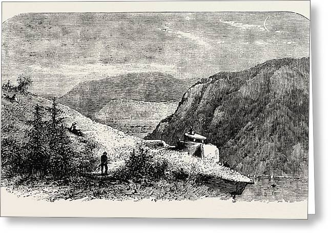 Jeffersons Rock, Harpers Ferry, Virginia Greeting Card by American School