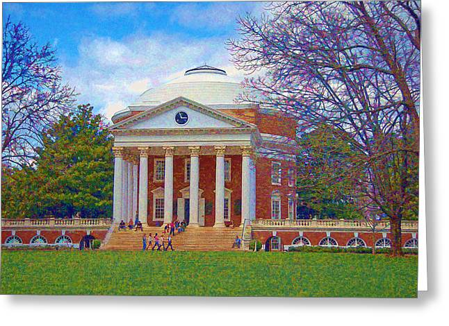 Jefferson's Rotunda At Uva Greeting Card