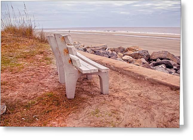 Jekyll Island Seats Available  Greeting Card by Betsy Knapp