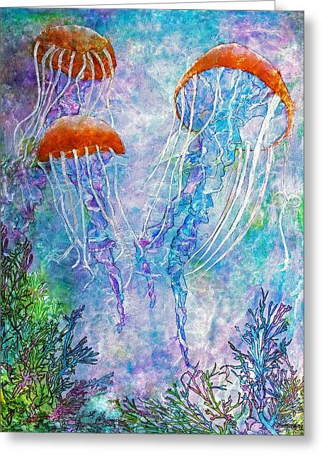 Jellies Greeting Card by Janet Immordino