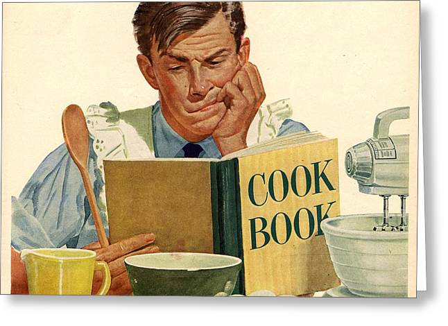 Jello 1950s Usa Cooking Recipes Cookery Greeting Card