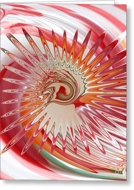 Jelly Bean Swirl Abstract Greeting Card by Liane Wright
