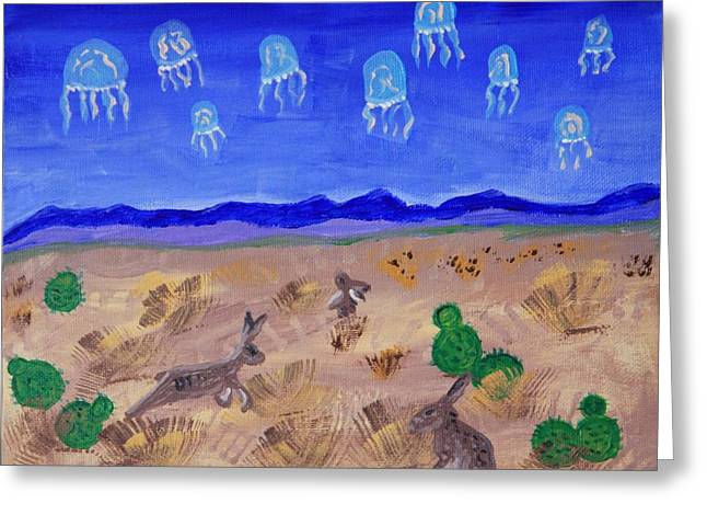 Jellyfish Migration Across Arizona Greeting Card
