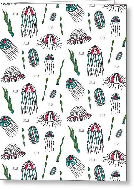 Jellyfish Repeat Print Greeting Card