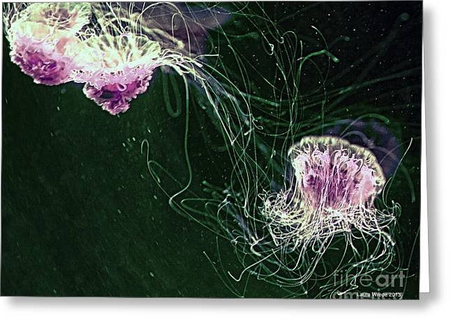 Jellyfish Together Forever Greeting Card by Artist and Photographer Laura Wrede