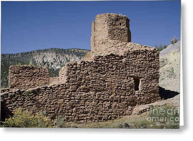 Jemez State Monument Ruins Greeting Card by David Gordon