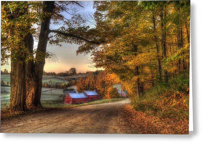 Jenne Farm - Autumn In Vermont Greeting Card by Joann Vitali
