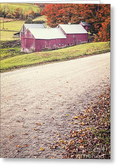 Jenne Farm Vermont Greeting Card by Edward Fielding