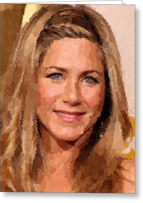 Jennifer Aniston Portrait Greeting Card