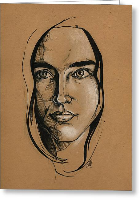 Jennifer Connelly Greeting Card