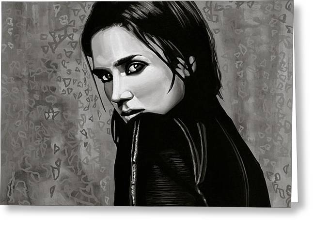 Jennifer Connelly Painting Greeting Card