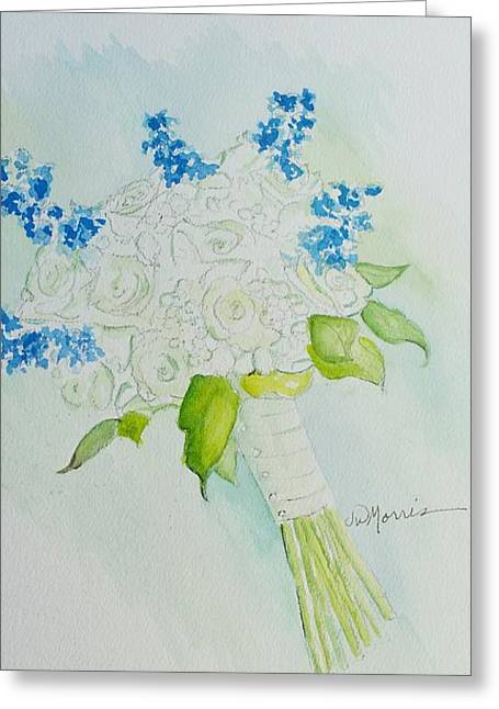 Jennifer's Wedding Bouquet Greeting Card