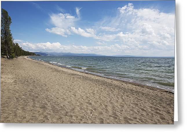 Greeting Card featuring the photograph Yellowstone Lake by Belinda Greb