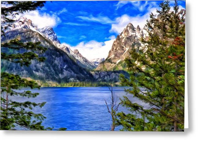 Jenny Lake Greeting Card by Michael Pickett