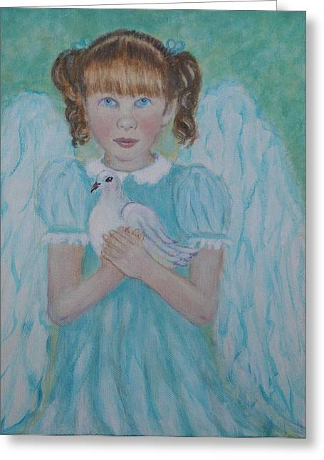 Jenny Little Angel Of Peace And Joy Greeting Card by The Art With A Heart By Charlotte Phillips