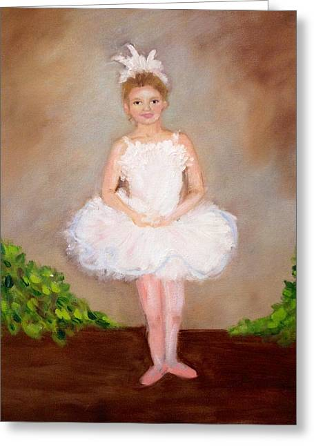 Jensen The Ballerina Greeting Card by Jenell Richards