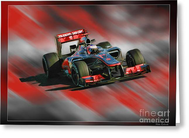 Jenson Button  Greeting Card