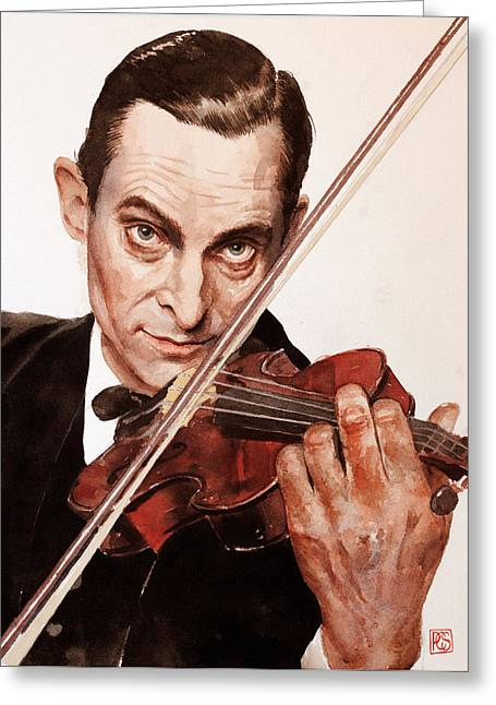 Jeremy Brett Greeting Card by Penny Crichton-Seager