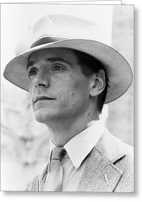 Jeremy Irons In Brideshead Revisited  Greeting Card