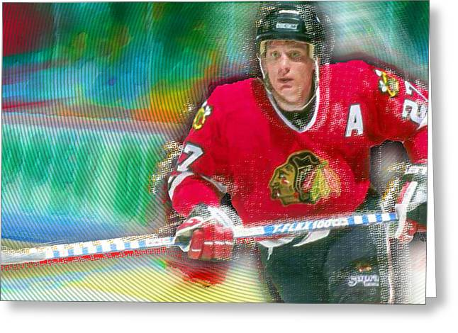 Jeremy Roenick Chicago Blackhawks  Greeting Card