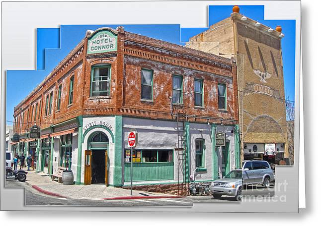 Jerome Arizona - Hotel Conner - 01 Greeting Card by Gregory Dyer