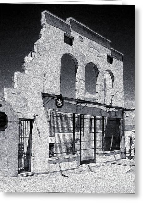 Jerome Arizona - Jailhouse Ruins Greeting Card by Gregory Dyer