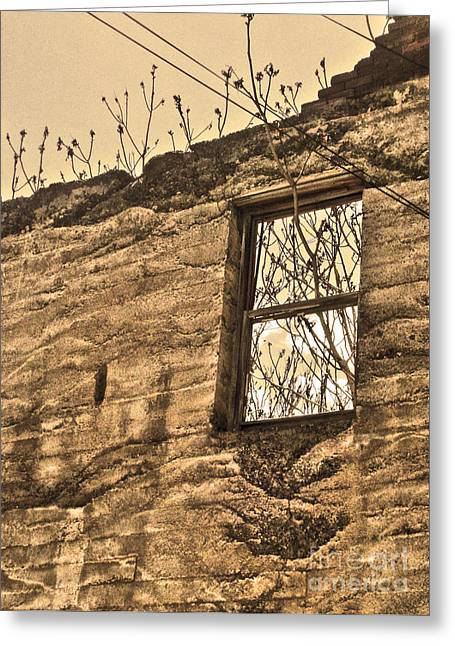 Jerome Arizona - Ruins - 01 Greeting Card by Gregory Dyer