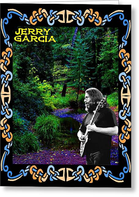 Greeting Card featuring the photograph Jerry At Psychedelic Creek by Ben Upham