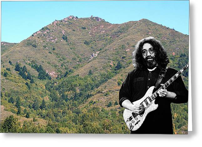 Jerry Garcia And Mount Tamalpais Greeting Card by Ben Upham III