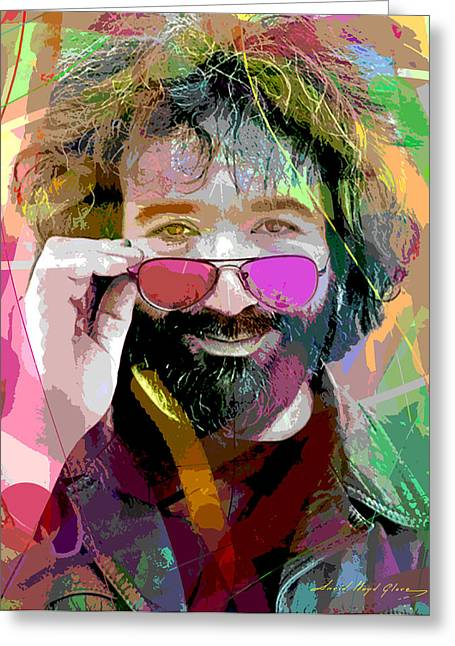 Jerry Garcia Art Greeting Card by David Lloyd Glover