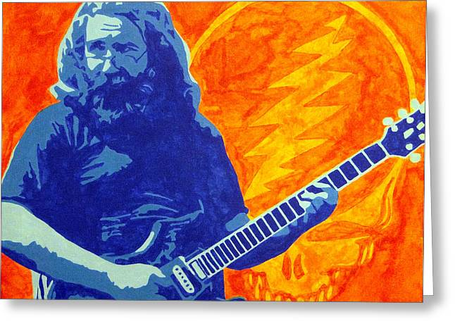 Jerry Garcia Greeting Card by Doran Connell