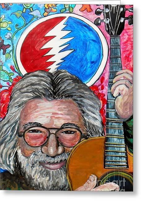 Jerry Garcia Fun Tribute Greeting Card