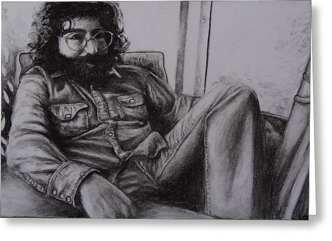 Jerry Garcia In '72   Greeting Card